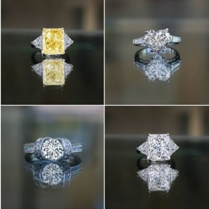 2 ct diamond rings for women
